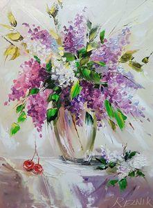 Lilac flowers 40*30 cm