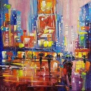 Night cityscape 60*60