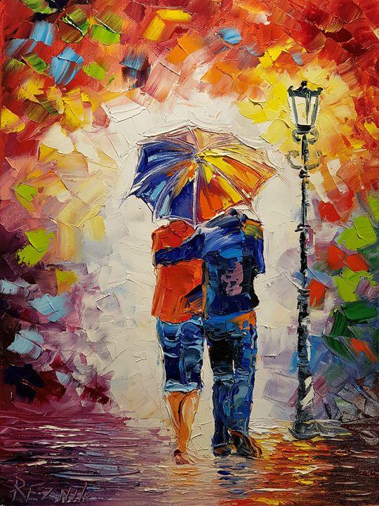 Romantic couple 40*30 - Anna Reznik Art
