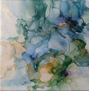 Alcohol Ink in Blues/Green