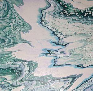 Fluid Art with Cloud Effect in Jade