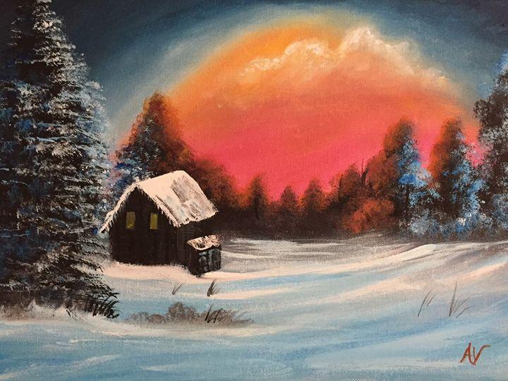 Winter Cabin - Amy Valiante