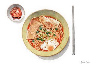 Shin Ramyeon and Kimchi