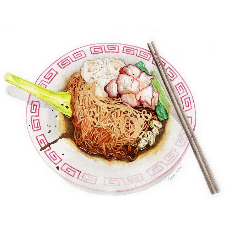 Wantan Noodles - I Art Food