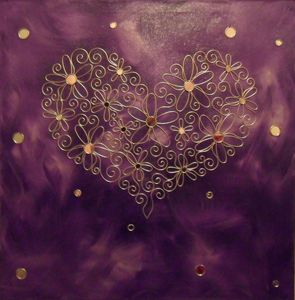 Wall Candy Heart in Violet