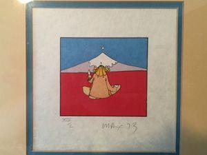 Peter Max's Sage by Mount Fuji