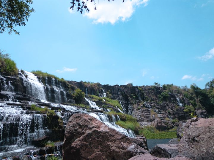Pongour Waterfall - Landscape from Anh