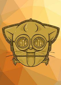 Kitten c3po Icon