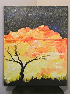 Starry eye sunset
