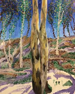 Twin Aspen Trees
