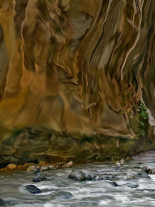 Canyon Wall - Sally Lannier Artist