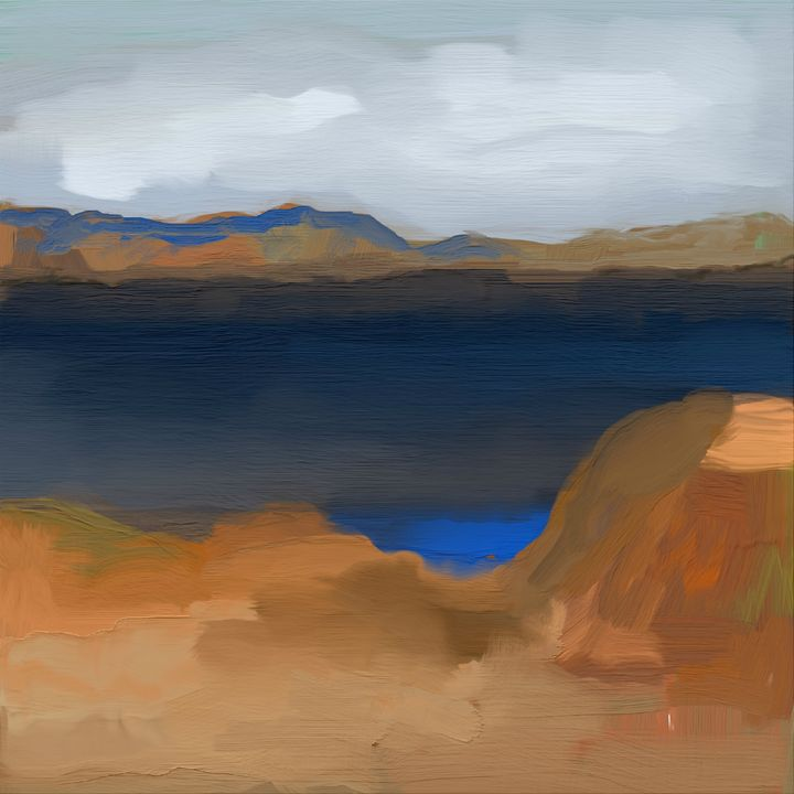 The Lake with a Lagoon - JHughes Works of Art