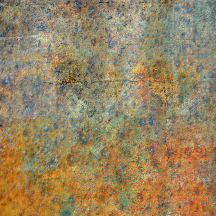 Blue and Copper Textures - JHughes Works of Art