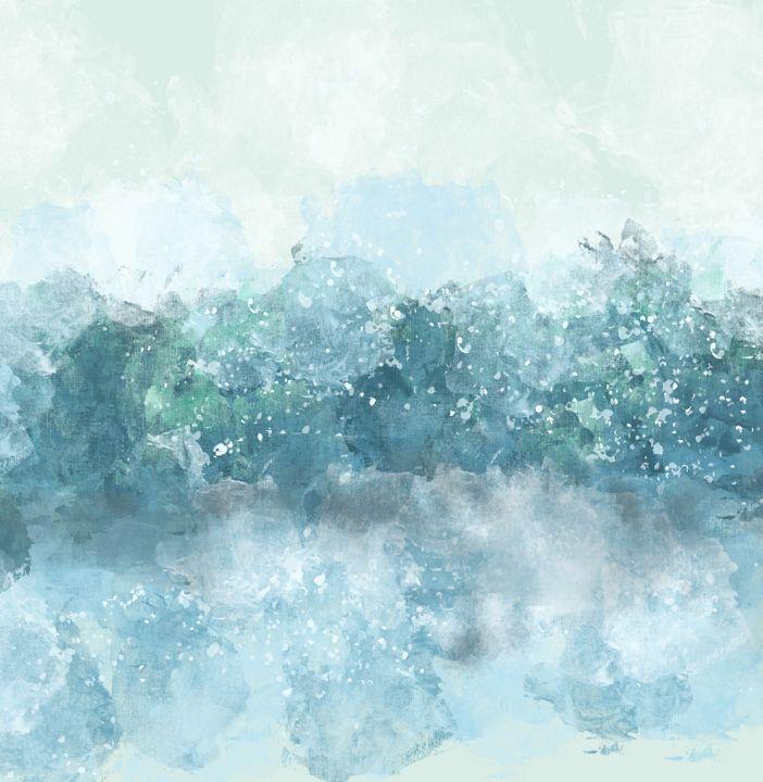 Choppy Ocean Water in Blue - JHughes Works of Art