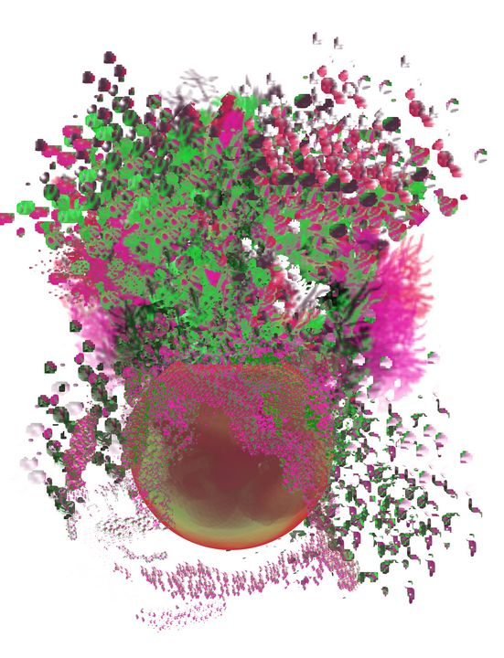 Happy Plant in Hot Pink and Green - JHughes Works of Art