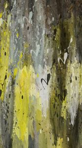 Yellow, Black, and White Abstract