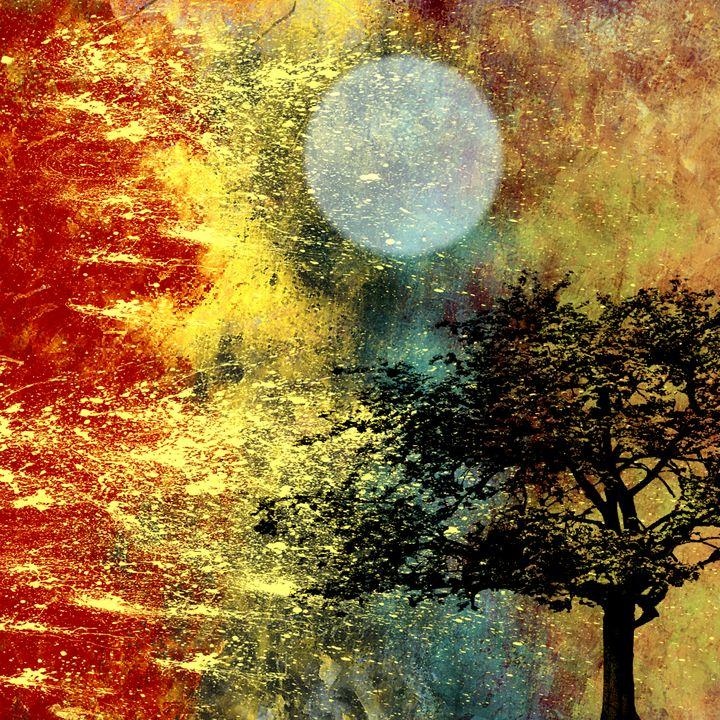 Golden Moonlight Tree - JHughes Works of Art