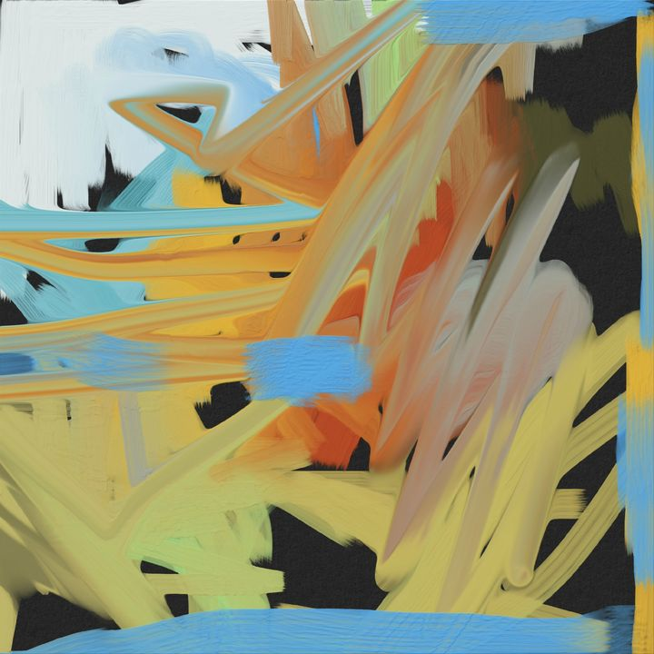A Busy Day Abstract Painting - JHughes Works of Art
