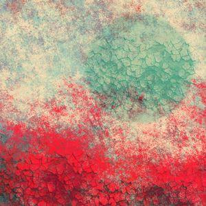 Bright Red, Aqua Moon Textures - JHughes Works of Art