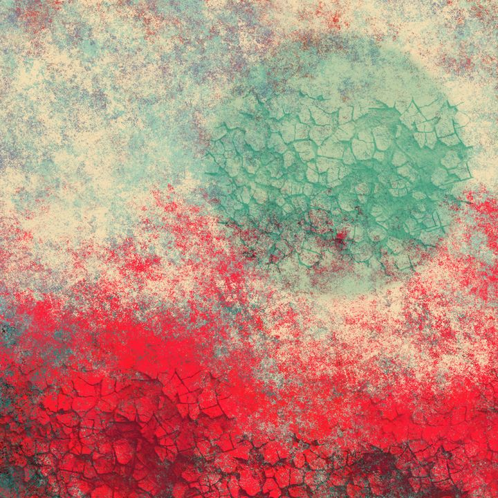 Bright Red, Aqua Moon Textures - JHughes Works of Art