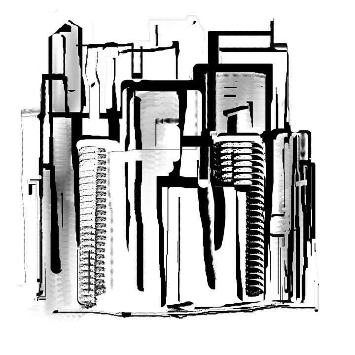 Black and White Cityscape - JHughes Works of Art