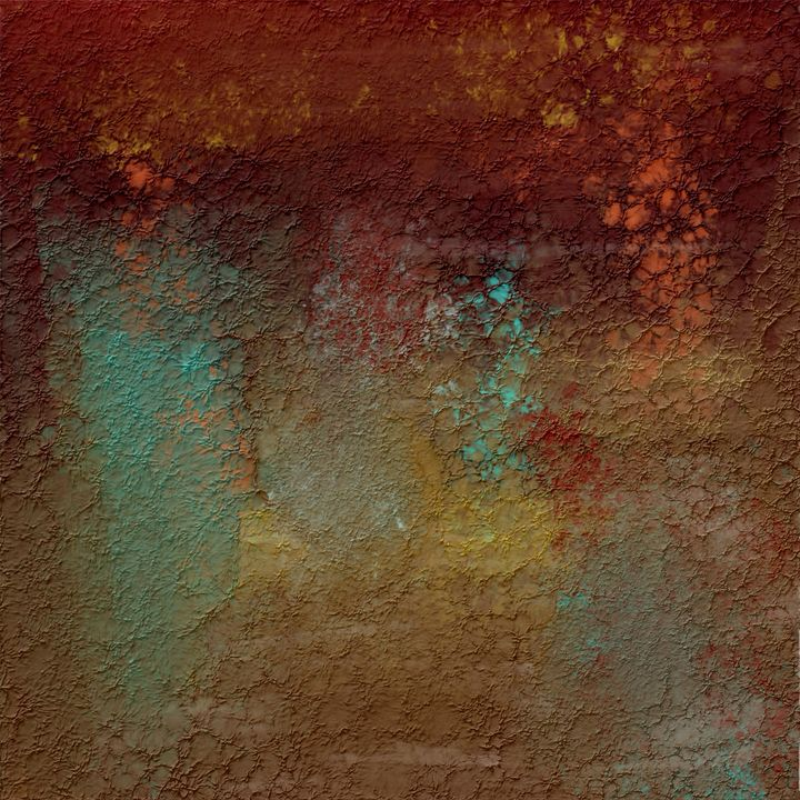 Copper, Turquoise, and Gold Textures - JHughes Works of Art