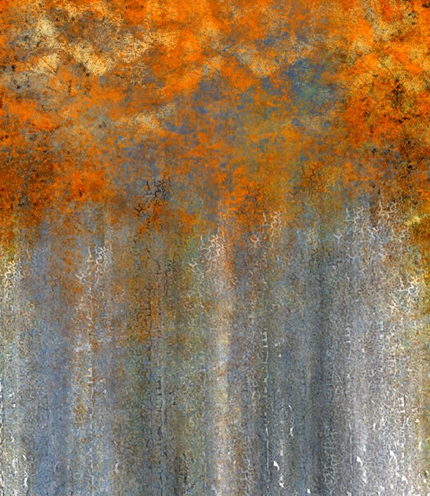 Birch Trees in Orange and Gold - JHughes Works of Art