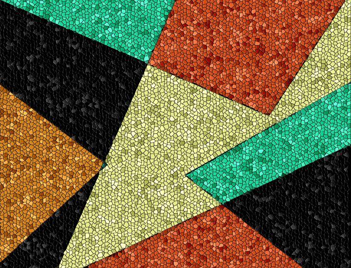 Southwestern Geometric Mosaic Design - JHughes Works of Art
