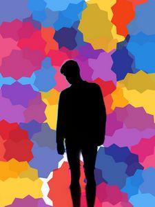 Men Surround By Colors
