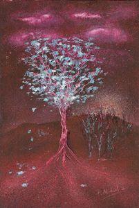 Árbol Rojo VII (Serie Árboles)
