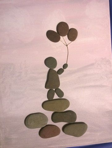 Child with Balloons - Stix-N-Stones.  AND ThomasJ Creations