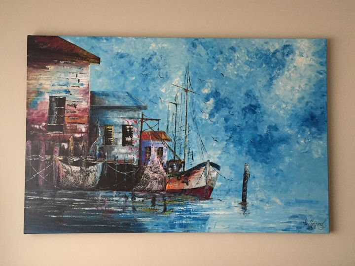 Belize Fishing Dock - Belize Painting