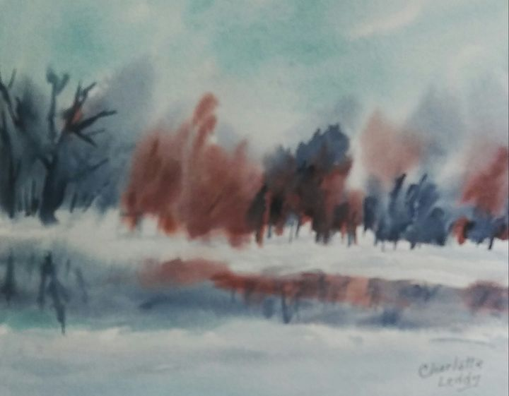 Snow Colors - Charlotte Leddy Watercolor - Prints and Cards Only