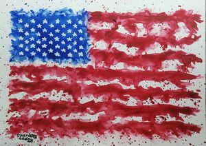Happy 4th of July - Charlotte Leddy Watercolor - Prints