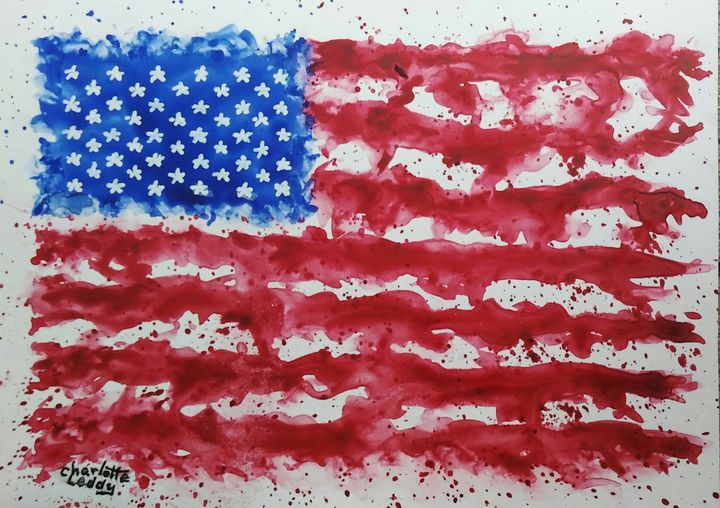 Happy 4th of July - Charlotte Leddy Watercolor - Prints and Cards Only