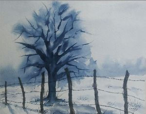 Snow Tree - Charlotte Leddy Watercolor - Prints