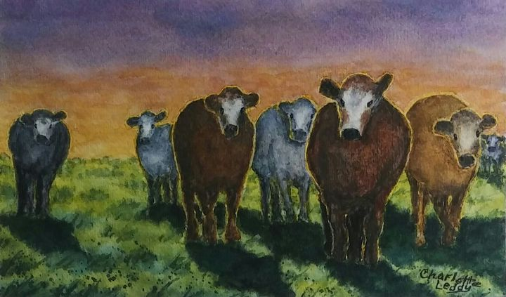 Waiting For Dinner - Charlotte Leddy Watercolor - Prints and Cards Only