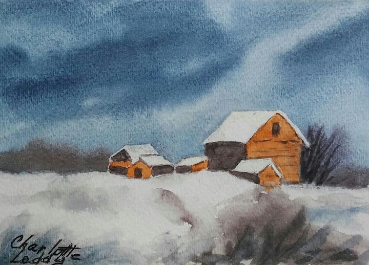 In The Snow - Charlotte Leddy Watercolor - Prints and Cards Only