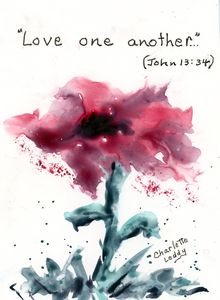 Love One Another - Charlotte Leddy Watercolor - Prints