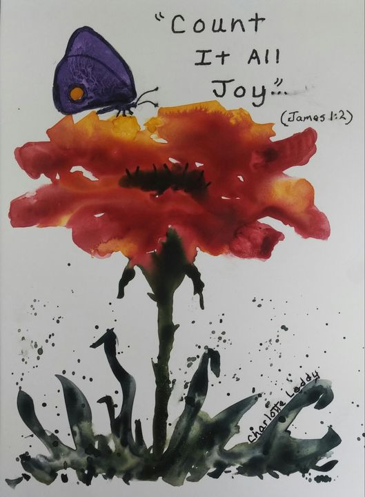 Count It All Joy - Charlotte Leddy Watercolor - Prints and Cards Only