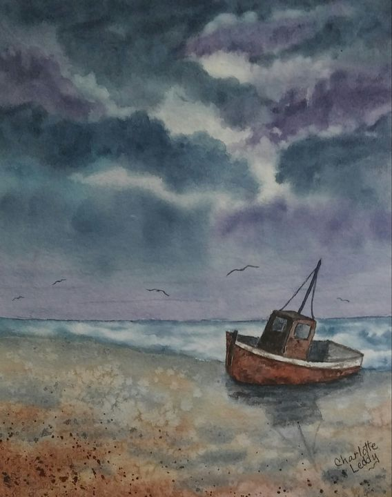 Done Fishing - Charlotte Leddy Watercolor - Prints and Cards Only