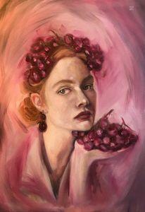 'Girl with Garnet Earring'