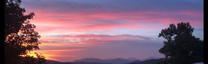 Blue Ridge Mountain Sunset I