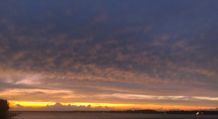 Sunset Over Lake Norman I - Helping Hemppies by Amadis Dist