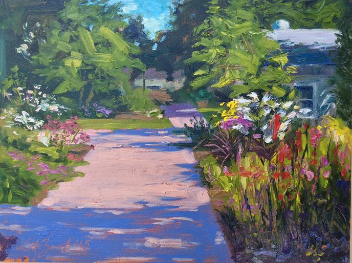 Hummingbird Visit .....SOLD - Lisa A. Zook Fine Art