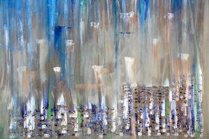 60 x 60 Oil and Acrylic on Canvas