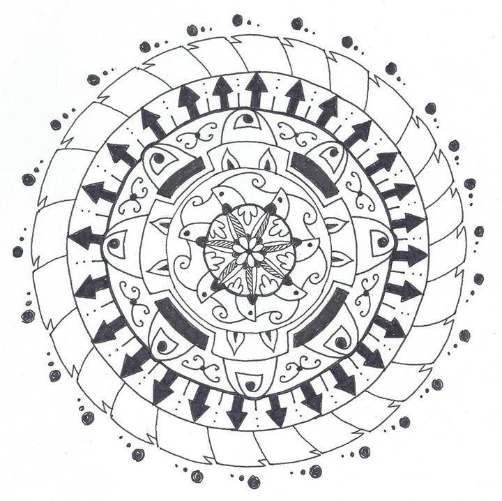 Coloring Mandala #1 - BBKMLQ