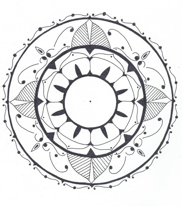 Coloring mandala #2 - BBKMLQ