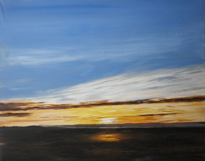 golden sun in thurstaston - sjcurtisarts