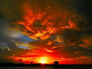 Reddish Sunset